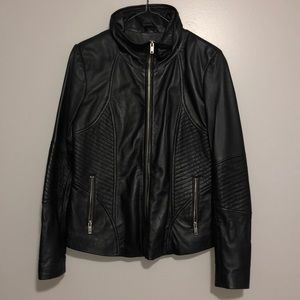 Danier Biker style genuine leather coat